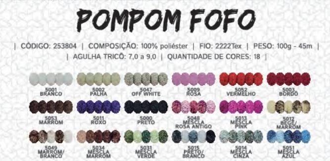Fio Pom Pom Fofo Circulo - 100g - R  8 e6cbe9f1d69
