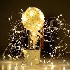 c7af2a67c Fio Prata Cordão Luz De Fada Vagalume 5m 50 Leds Fairy Light - R  20 ...
