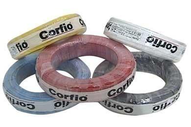 70204058c Fio Rígido 750v 10mm Corfio T cores Preço 10 Metros - R  69