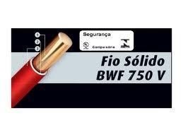 ca48e595b Fio Rígido sólido 750v 6mm Corfio T cores Rolo De 10metros! - R  45 ...