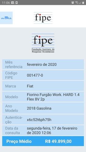 fiorino furgão 1.4 flex hard working completa