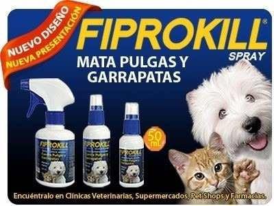 fiprokill spray 250ml pulgas y garrapatas perro-gato pethome