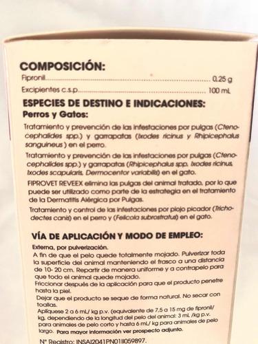 fiprovet - fipronil - spray 50ml garrapaticida