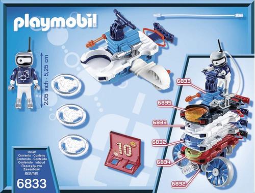 fire & action androide de hielo con lanzador 6833 playmobil