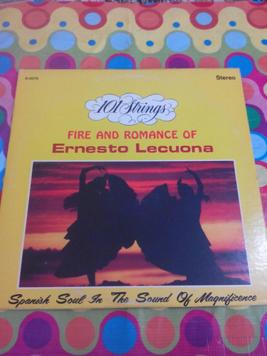 fire and romance of ernesto lecuona lp. importado u.s.a.