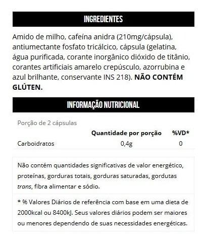 fire black 60 cápsulas cafeína 100% pura - max titanium