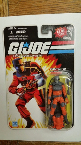 firefighter barbecue gi joe 25 aniversario comic series