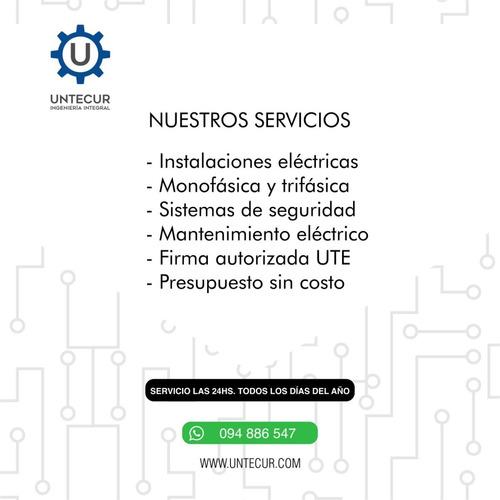 firma autorizada ute, electricista, instalaciones eléctricas