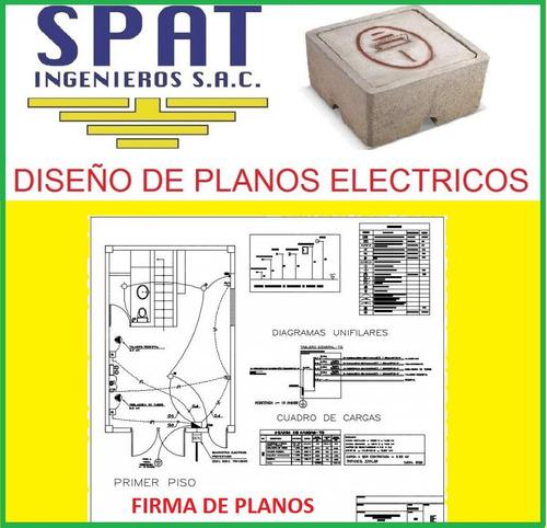 firma, diseño de planos eléctricos, licencias municipales