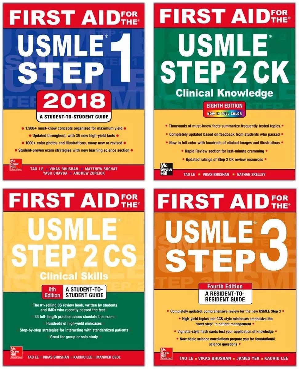First Aid Usmle Kit - Step 1 + Step 2 Ck & Cs + Step 3