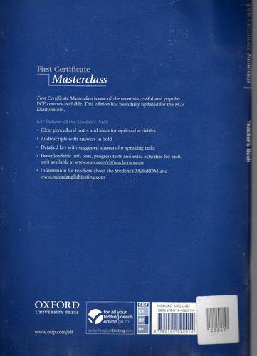 first certificate masterclass teacher's book, new on offer!!