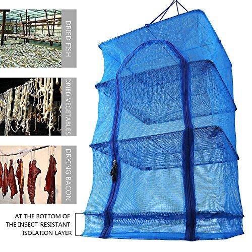fish mesh hanging drying net food deshidratador - durable p