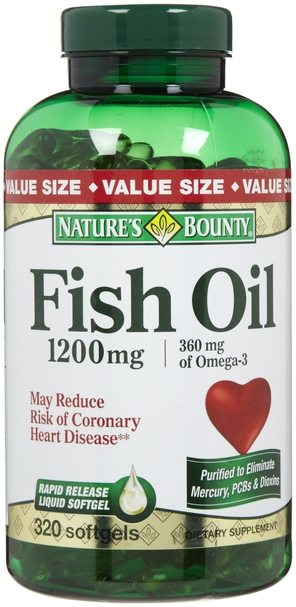 Fish oil 1200mg 320 capsulas omega 3 natures bounty r for Where does fish oil come from