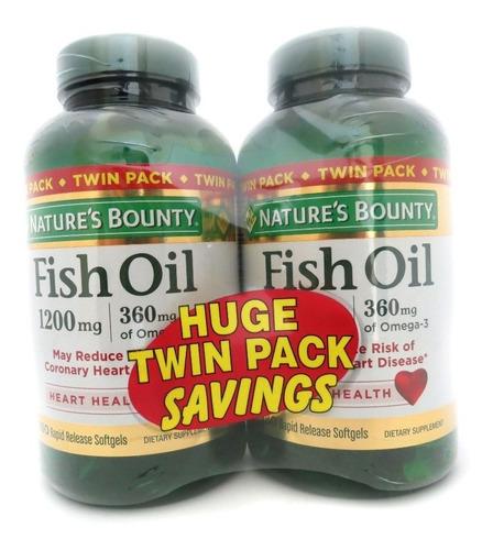fish oil nature's bounty 1200mg omega 3 360mg 180+180 cáps.
