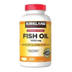 Fish Oil Omega 3 Kirkland 1.000 Mg 400 Capsulas Blandas