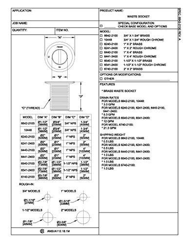 fisher 67402100 drain ws 2 x 2 brs