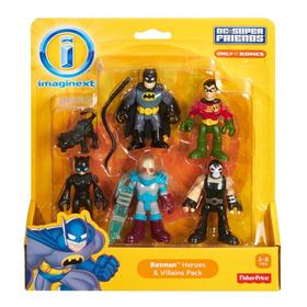 Fisher Price -imaginext - Pack De 5 Figuras Dc Super Friends