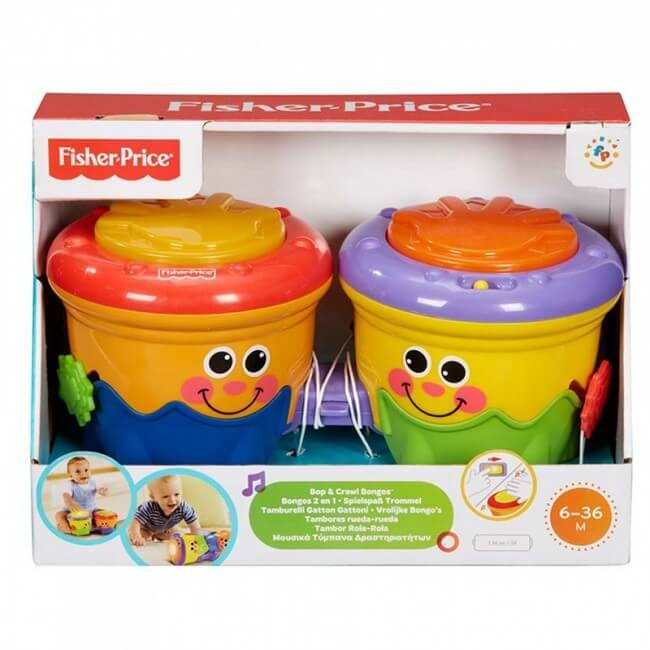 Fisher price bongos 2 en 1 tambores toy store for Silla 2 en 1 fisher price