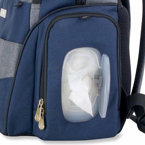 fisher price fastfinder bolsa de pañales mochila, azul/gr