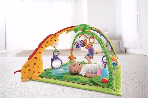 fisher price gimnasio musical luz rainforest bosque tropical