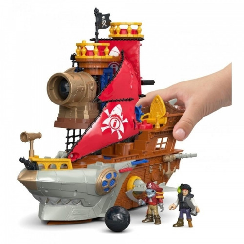fisher-price imaginext la mordedura de tiburón barco pirata