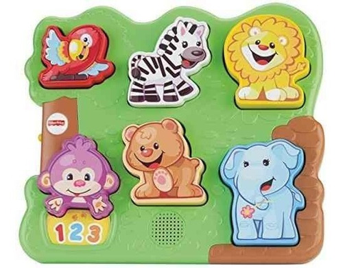 fisher-price laugh & learn zoo animal puzzle!