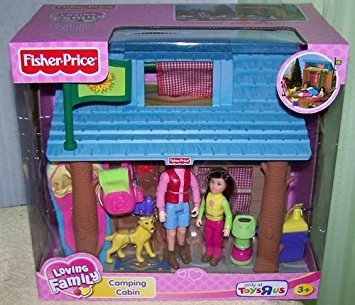 fisher price loving family camping cabina con accesorios