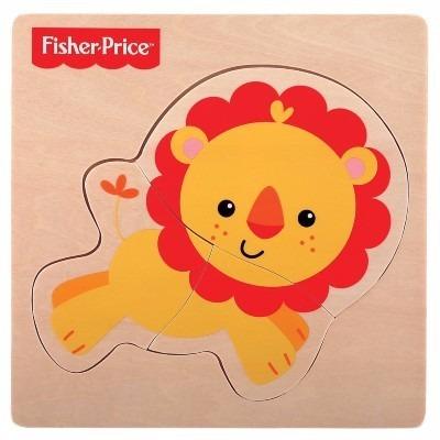 fisher price meu primeiro quebra-cabeça animal leão fp1002