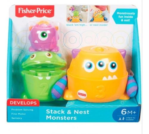 fisher price monstruos apilables -nuevo sellado - original