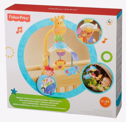 fisher price movil jirafa musical 2 en 1 envio gratis