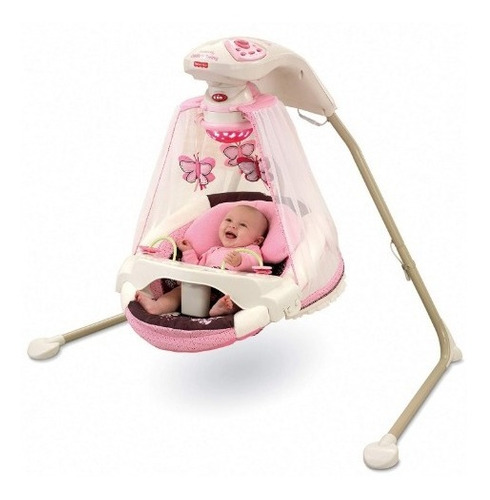 fisher-price papasan cradle swing mocha butterfly moises