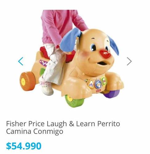 fisher price perro camina conmigo correpasillo bebe