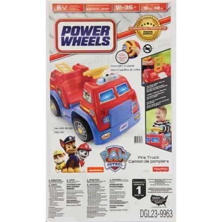 fisher price power wheels paw patrol (carro bomberos)