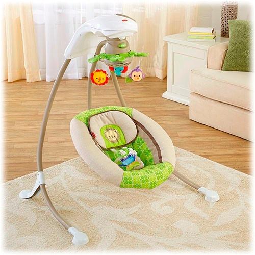 Fisher price rainforest cradle silla mecedora bebe 739 for Espejo retrovisor bebe fisher price