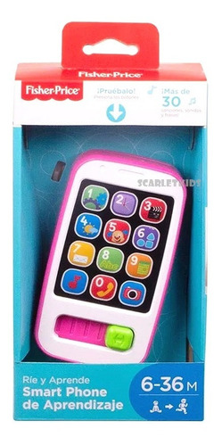 fisher price smart phone de aprendizaje mattel scarlet kids