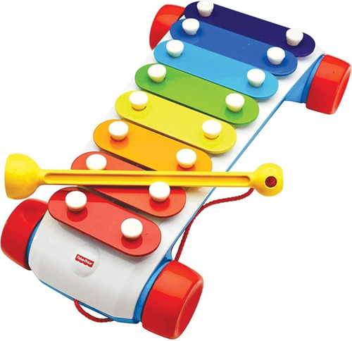 fisher price xilofon metal clasico arrastre con ruedas cadia