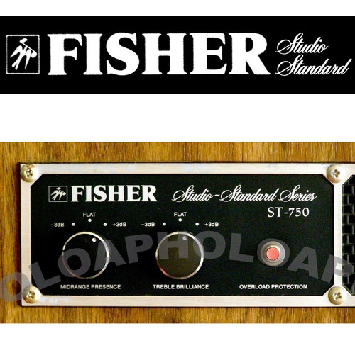 fisher studio standard st 750  4 vías 100 w  rms made in usa