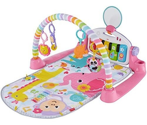 fisherprice deluxe kick y play piano gym pink
