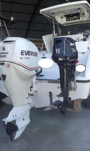 fishing saint troper 265 evinrude e-tec 250 hp 2007. caiera
