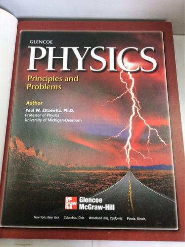 física glencoe, principios y problemas, en inglés