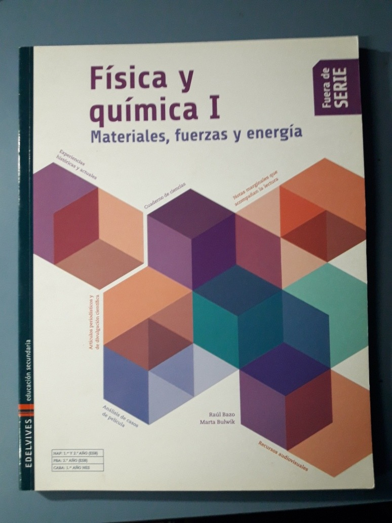 d876fbeafb Fisica Y Quimica 1 Ed. Edelvives ..nuevoo - $ 380,00 en Mercado Libre