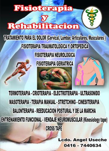fisioterapia y rehabilitacion. en consultorio y a domicilio!