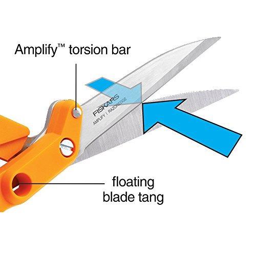 fiskars amplify razoredge tejido tijeras (8 pulgadas)