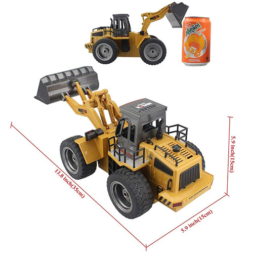 fistone rc truck alloy pala cargadora tractor 2.4g radio con
