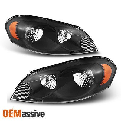 For 06-13 Chevy Impala 07 Monte Carlo Headlight Headlamps Replacement Left+Right