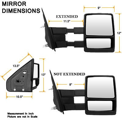 FIT 8L3Z17683DB MIRROR MANUAL LEFT FOR 2004 2005 2006 2007 2008 FORD F-150