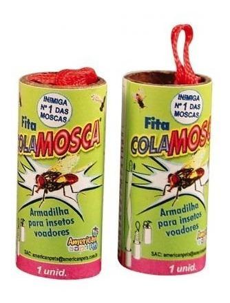 fita adesiva cola mosca mosquito pernilongo c/ 24 unidades
