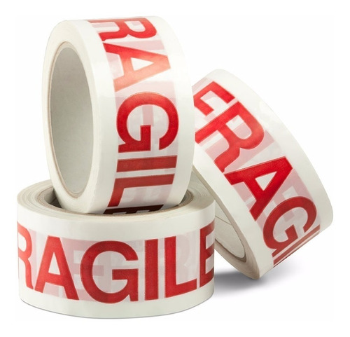 fita adesiva cuidado frágil | 48 mmx100 mtrs 01 rolo