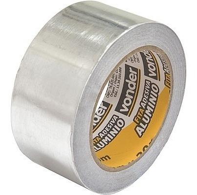 fita adesiva de alumínio 50 mm x 30 m vonder