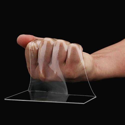 fita adesiva dupla face nano pu gel 1 metro transparente